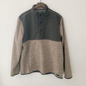 GH. Bass & CO. Quarter snap fleece pullover